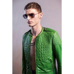 13 Roberto Cavalli Leather Coat