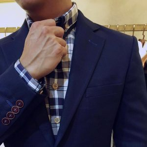 14 Checked-Shirt and Blue Suit