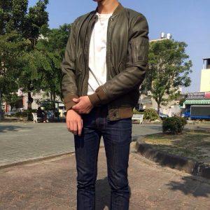 14 Diesel's Dark Green Leather Jacket