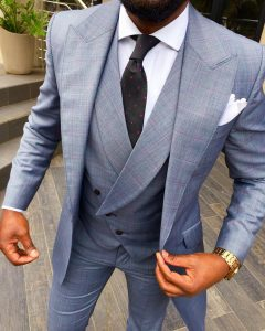 14 Multicolored stripped Three Button Suit Vest