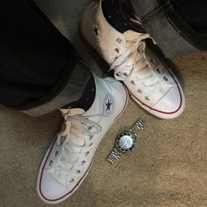 14 Single Lining White Converse