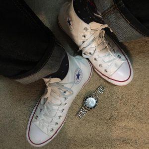 14 Single Lining White Converse