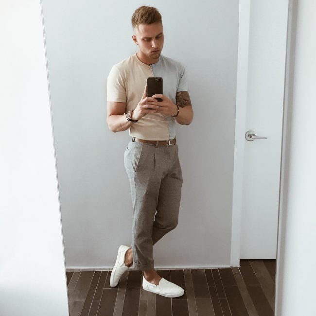 14 Slim Fitting Granddad Collar Shirt