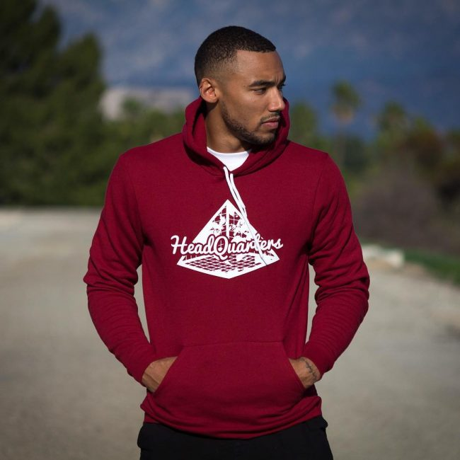 14 The Maroon Hoodie with Contrasting Drawstrings