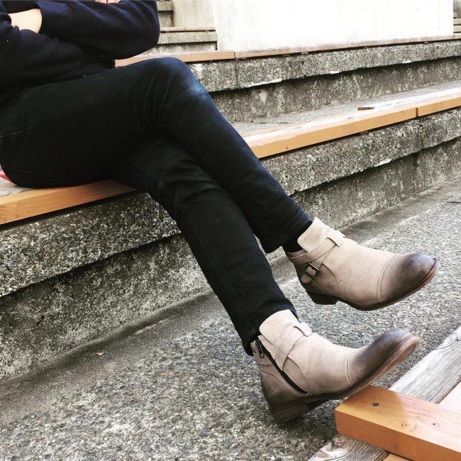 15 Beige Monk Strap Boots