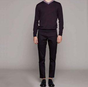 15 Black Pants & Black V-Collar Sweater