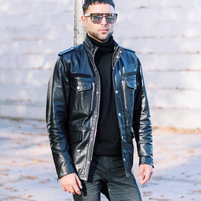 15 Diesel's Shiny Leather Jacket