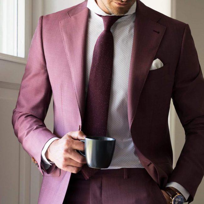 15 Lecce Burgundy Suit