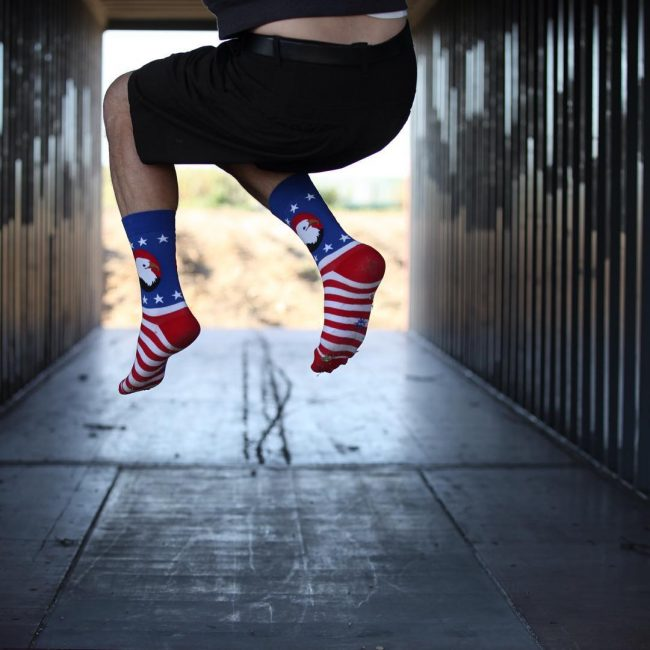 15 Men's American Flag Sock