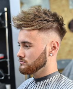 15 Messy Quiff Pomp with Tight Fade