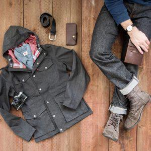 15 Slim Gray Cuffed Jeans