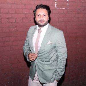16 A Blazer & Cream White Pants