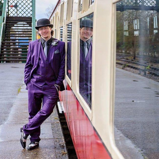 16 Classic Fit Purple Suit