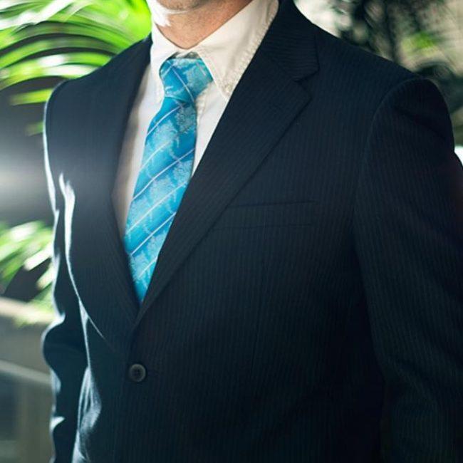 16 Smart Striped Suit