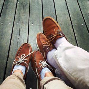 16 Timberland Boats with Khaki pants