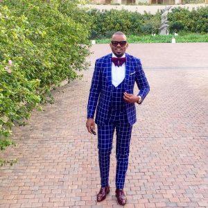 17 Blue on Blue Stripes Three Button Suit Vest