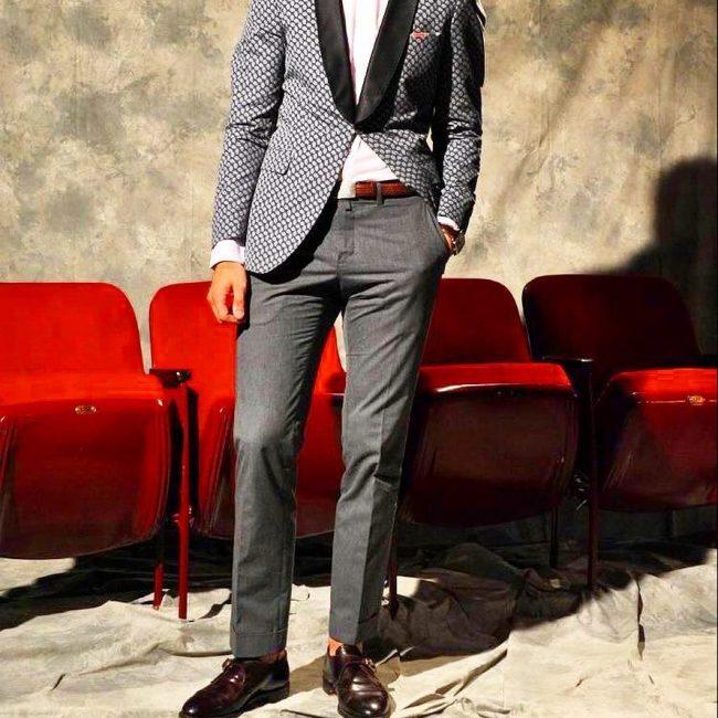 17 Gray Suit Pants & Brown Monk Strap Shoes