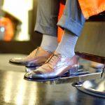 17 Intricately Gray Patterned Sock