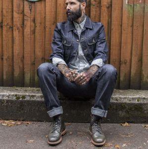 17 Relaxed Gray-Blue Jeans Suit
