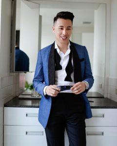 17 Royal Blue Pants & Sky Blue Coat Suit