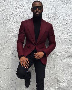 18 Purple Two Button Blazer