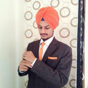 18 Tweed Suit with Orange Flair