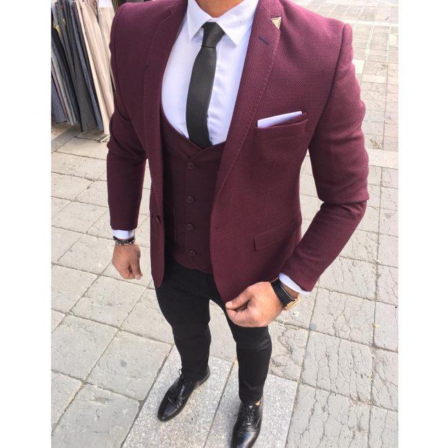 19 A Suit Vest & Black Fitted Pants