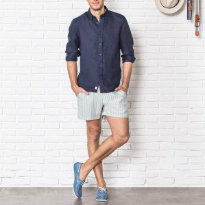 19 Blue Decks with Dress Shirt and Shorts