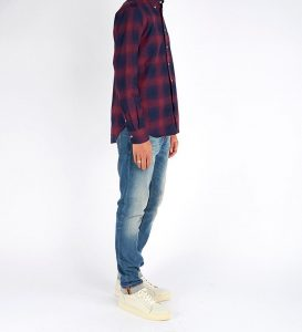 19 Burgundy and Blue Flannel