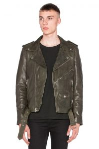 19 Fabulous Leather Jacket in Military Green