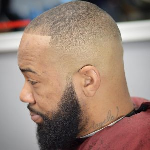 19 High Skin Fade with Full Beard