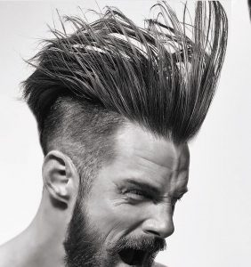 19 Straight-Front Messy Pomp
