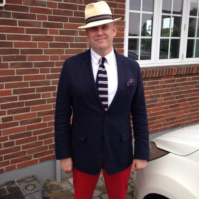 19 Unstructured Suit and Hat Combination