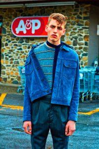 2 Blue Street Style Vintage Jacket