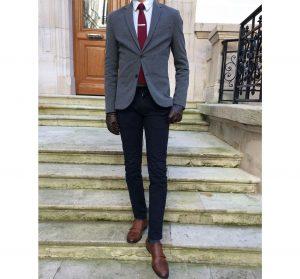 2 Fitting Grey Wool Blazer