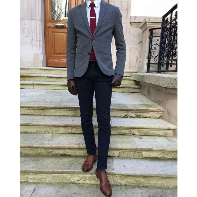 2 Fitting Grey Wool Blazer