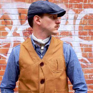 2 Hat, Vest, and Denim Combo