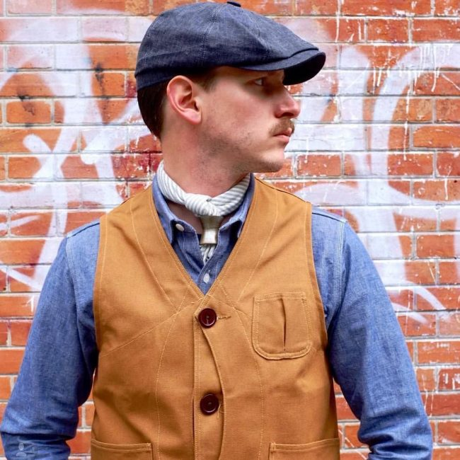 2 Hat, Vest, and Denim Combo