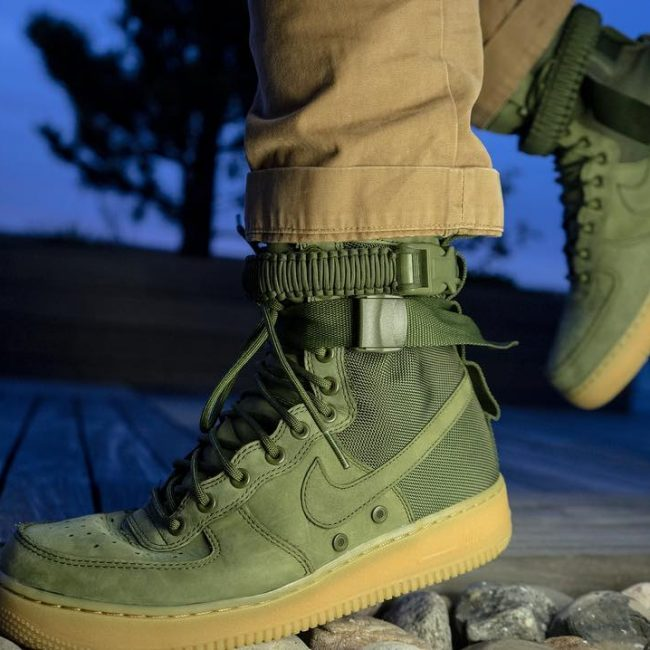 2 Unique High Tops In Jungle Green