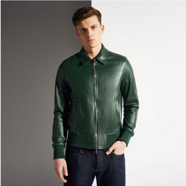 20 Brunswick Green Reversible Leather Jacket