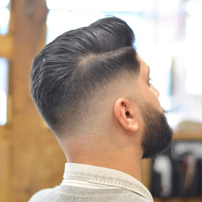 20 Disconnected and Blown Mane with Low Skin Fade