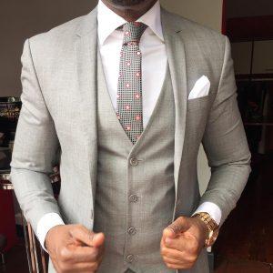 20 Light Gray Four Button Suit Vest