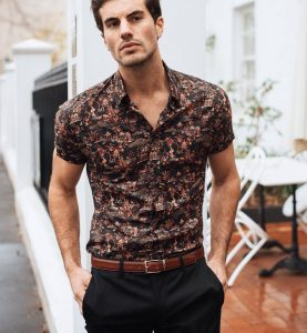 21 Artistic Print Short Sleeve Shirt