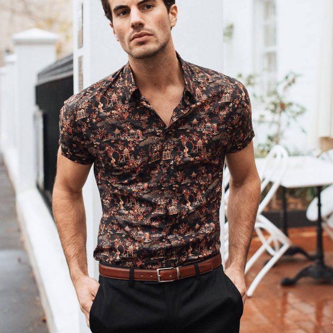 21 Artistic Print Short Sleeve Shirt