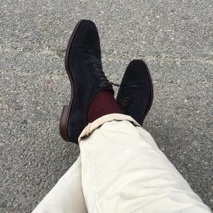 21 Blue Suede Shoes and Maroon Bresciani