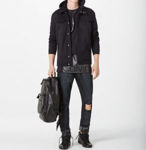 21 Bold Black Hooded Coat
