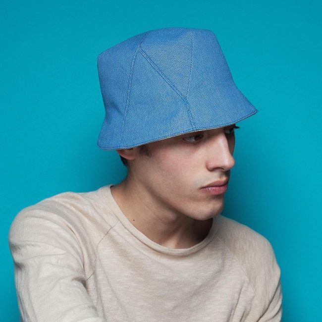 21 Bright Blue Bob Hat