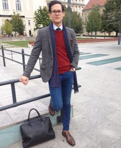 21 Grey Heavy Blazer & Fitting Blue Jeans
