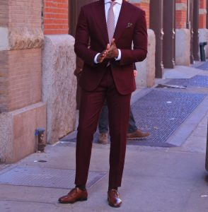 21 Suit and a Red Checkered Tie