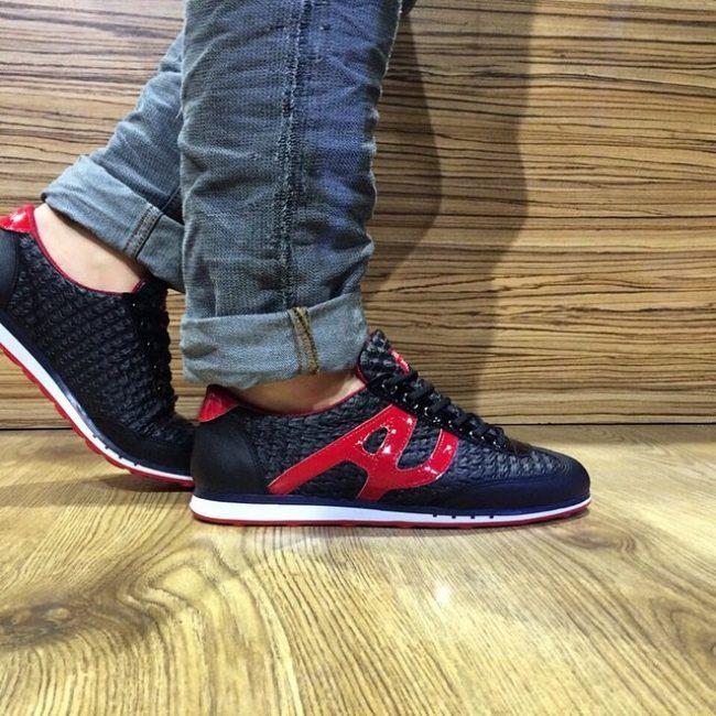 22 Black & Red Sneakers